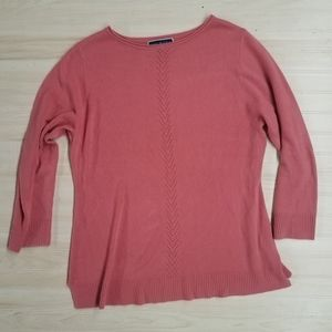 Karen Scott pink sweater. Women's size XL